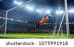soccer game moment  on...   Shutterstock . vector #1075991918
