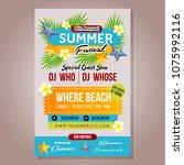 poster summer festival template ...   Shutterstock .eps vector #1075992116