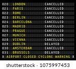 flight information display on... | Shutterstock .eps vector #1075997453