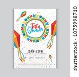 creative festa junina festival... | Shutterstock .eps vector #1075998710