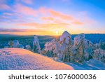 Winter Sunset Landscape From...