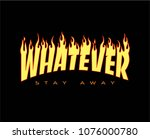 whatever writing typography  t... | Shutterstock .eps vector #1076000780
