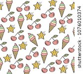 doodle seamless pattern with...   Shutterstock .eps vector #1076010374