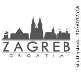 zagreb croatia skyline...   Shutterstock .eps vector #1076012516