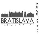 bratislava slovakia skyline... | Shutterstock .eps vector #1076012894