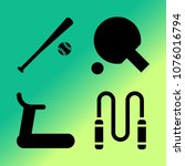vector icon set about fitness... | Shutterstock .eps vector #1076016794