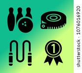 vector icon set about fitness... | Shutterstock .eps vector #1076016920