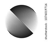 abstract halftone lines circle... | Shutterstock .eps vector #1076019716