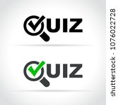 illustration of quiz icon on...   Shutterstock .eps vector #1076022728