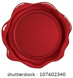 red wax seal on white   Shutterstock .eps vector #107602340