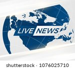 live news gray background with...   Shutterstock .eps vector #1076025710