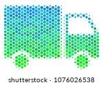 halftone dot shipment van... | Shutterstock . vector #1076026538