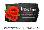 anzac day vector poster on a... | Shutterstock .eps vector #1076036150