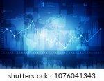 2d rendering stock market... | Shutterstock . vector #1076041343