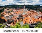view of city cesky krumlov ... | Shutterstock . vector #1076046389