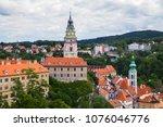 view of tower of cesky krumlov... | Shutterstock . vector #1076046776
