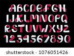 paper folding alphabet vector.... | Shutterstock .eps vector #1076051426
