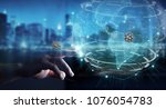 businessman on blurred... | Shutterstock . vector #1076054783