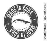 made in cuba quality original... | Shutterstock .eps vector #1076054843