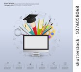 ideas concept for education... | Shutterstock .eps vector #1076058068