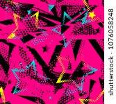 abstract seamless grunge stars...   Shutterstock .eps vector #1076058248