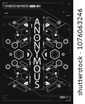 cyberpunk futuristic poster.... | Shutterstock .eps vector #1076063246