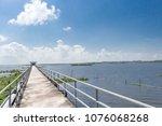 amazing landscape of bridge on... | Shutterstock . vector #1076068268