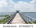 amazing landscape of bridge on... | Shutterstock . vector #1076068274