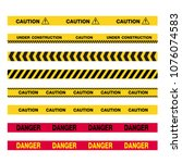 caution tape  construction | Shutterstock .eps vector #1076074583