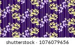 floral seamless pattern with... | Shutterstock .eps vector #1076079656
