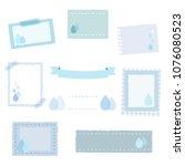 set of drop frames   vector eps ...   Shutterstock .eps vector #1076080523