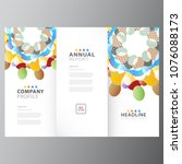 annual colorful business report ...   Shutterstock .eps vector #1076088173