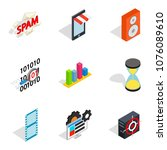 web setup icons set. isometric...