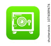 safe icon green vector isolated ...