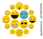 flat emoticon icons set....