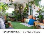 little garden inside a small...   Shutterstock . vector #1076104139