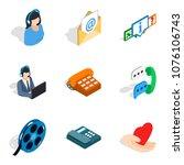 network address icons set....