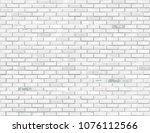 white brick background. vector... | Shutterstock .eps vector #1076112566