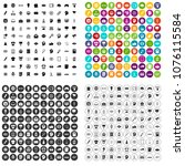 100 creative marketing icons... | Shutterstock .eps vector #1076115584