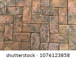 mon brick  clay brick  paving... | Shutterstock . vector #1076123858