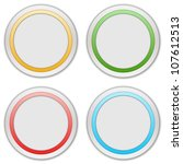 collection of four web buttons | Shutterstock . vector #107612513