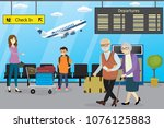 different cartoon people in... | Shutterstock .eps vector #1076125883