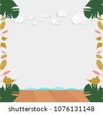 wooden floor montage style with ...   Shutterstock .eps vector #1076131148