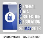 gdpr  general data protection...   Shutterstock .eps vector #1076136200