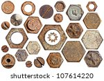 Collection Old Rusty Screw...