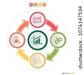 pdca plan  do  check  act ... | Shutterstock .eps vector #1076147534