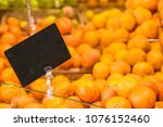 fruit counter and empty price... | Shutterstock . vector #1076152460