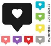 like icon vector. social media... | Shutterstock .eps vector #1076153678