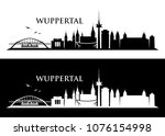 wuppertal skyline   germany  ... | Shutterstock .eps vector #1076154998