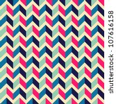 seamless geometric pattern with ... | Shutterstock .eps vector #107616158